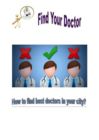 How to Find the Best Doctors in Your City
