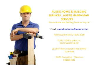 AUSSIE HOME & BUILDING SERVICES