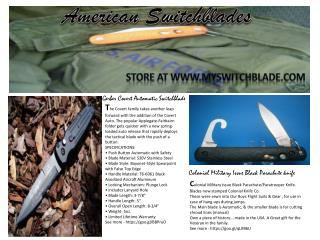 Stiletto switchblade knife for sale at myswitchblade.com