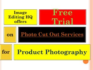Photo cut out services for product photography with FREE TRIAL
