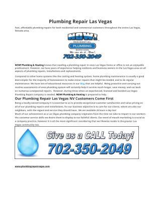 Plumbing Repair Las Vegas