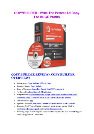 Copy Builder review comparison