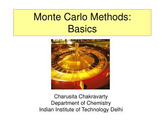 Monte Carlo Methods: Basics