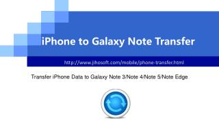 How to Transfer iPhone Data to Galaxy Note 3/4/5/Edge