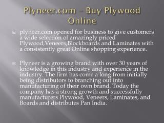 Plywood Dealers in Bangalore