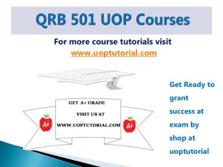 QRB 501 UOP Tutorial / Uoptutorial