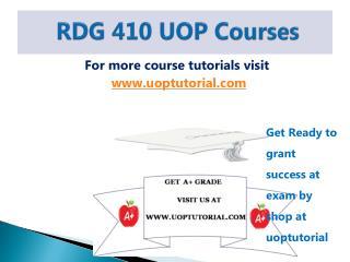RDG 410 UOP Tutorial / Uoptutorial