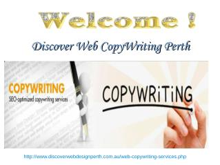 Discover web CopyWriting perth