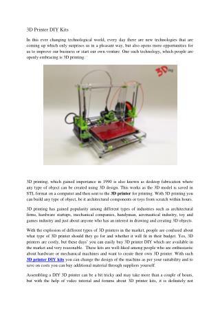 3D Printer DIY Kits - 3Ding