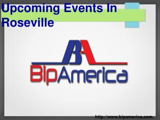Upcoming Events In Roseville