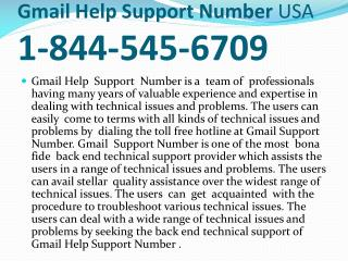 Gmail Help Support Number USA 1-844-545-6709