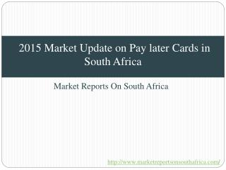 2015 Market Update on Pay later Cards in South Africa