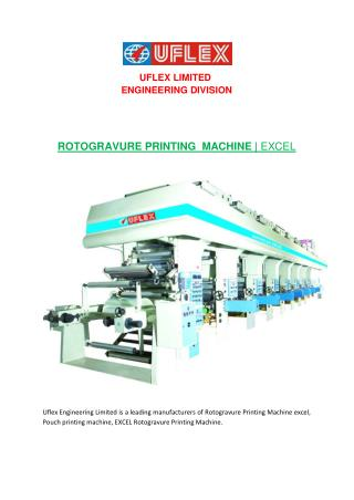 Manufacture of Rotogravure Printing Machine excel, Pouch printing machine