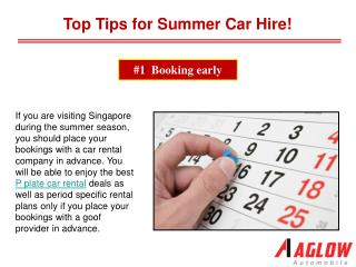 Top Tips for Summer Car Hire!