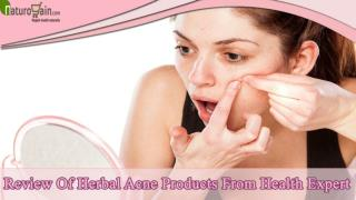 Review Of Herbal Acne Pills And Products From Health Expert
