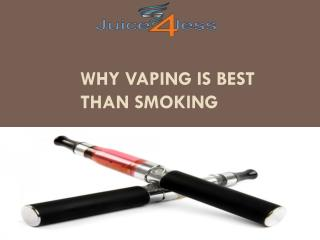 Why vaping is best than smoking