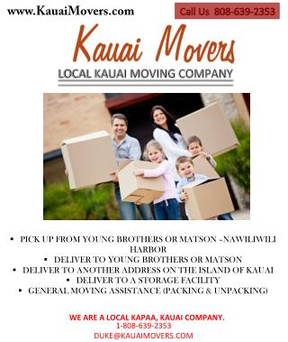 Kauai Movers- Local Kauai Moving Company