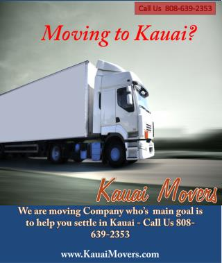 Local Kauai Moving Company - Kauai Movers