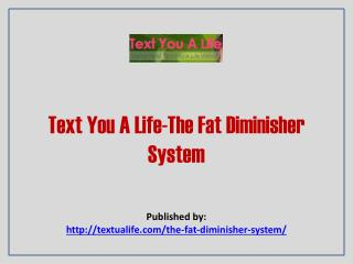 Text You A Life-The Fat Diminisher System