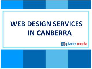 Web design services in Canberra