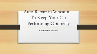 Wheaton auto body shop