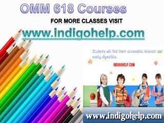 OMM 618 Course Tutorial / indigohelp