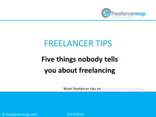 Five Things Nobody Tells You About Freelancing