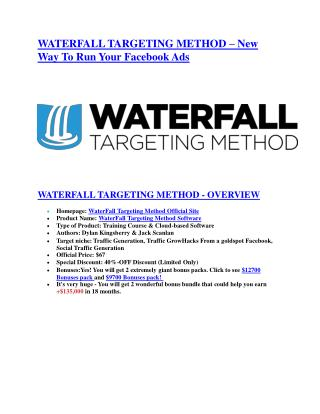 Waterfall Target Method review - (FREE) Jaw-drop bonuses