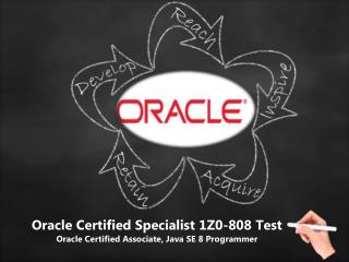 Oracle 1Z0-808 Java SE 8 Programmer I Test