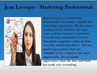 Jean Leveque - Marketing Professional