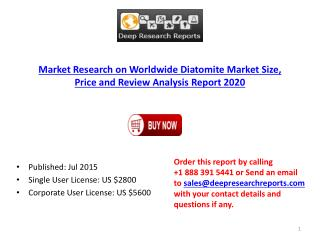Global Diatomite Market Price and Review Analysis Report 2015