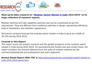 Modular Switch Market in India 2015-2019