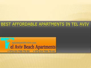 Best Affordable Apartments in Tel Aviv