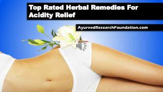 Top Rated Herbal Remedies For Acidity Relief
