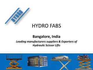Hydraulic Lift Manufacturer