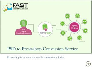 Psd to prestashop conversion service