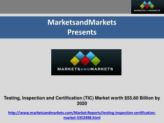Testing, Inspection and Certification (TIC) Market by Application