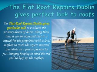 The Flat Roof Repairs Dublin gives perfect look to roofs