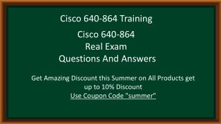 Pass4sure 640-864 Questions Answers