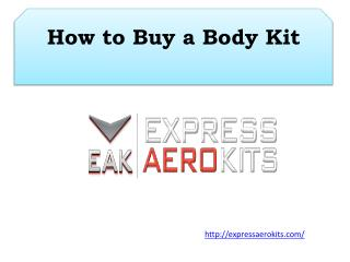 How to Buy a Body Kit
