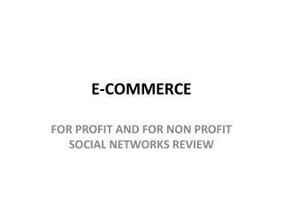 E-Commerce homework answers