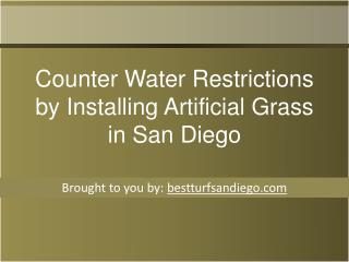 Counter Water Restrictions by Installing Artificial Grass in San Diego