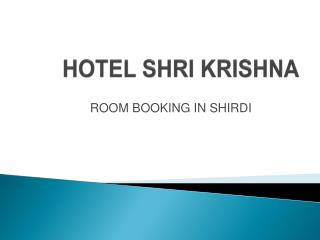 Shirdi Room Booking