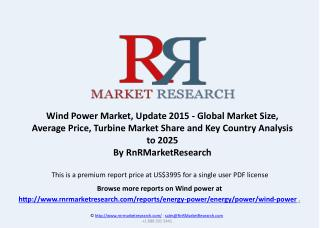 Wind Power Market, Average Price and Turbine Market Share to 2025