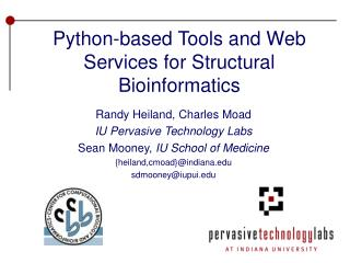 Python-based Tools and Web Services for Structural Bioinformatics