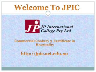Commercial cookery certificate 3 in hospitality