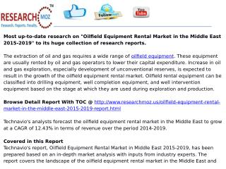 Oilfield Equipment Rental Market in the Middle East 2015-2019