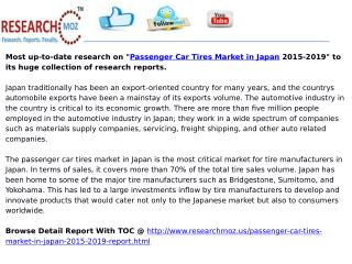 Passenger Car Tires Market in Japan 2015-2019