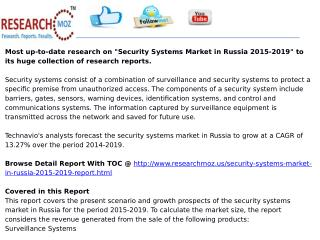 Security Systems Market in Russia 2015-2019