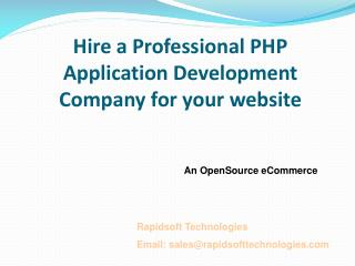 Hire a Professional PHP Application Development Company for your website